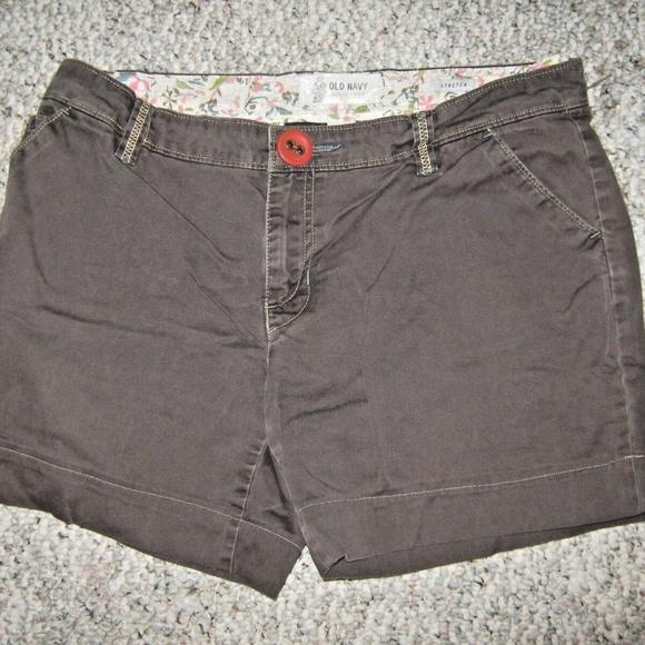 Old Navy Pants - OLD NAVY STRETCH Brown 5 Pocket Shorts 10 REGULAR